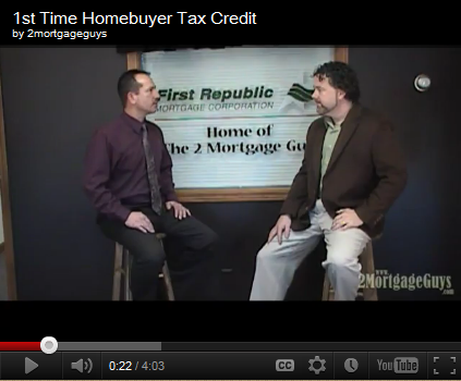 Friday's Video – First Time Home Buyer Tax Credit