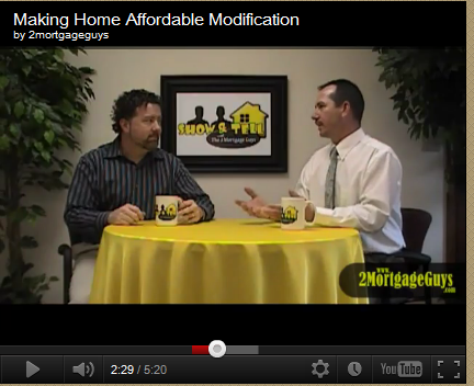 Friday's Video – Making Home Affordable Modification