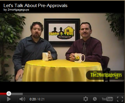 Friday's Video – Let's Talk About Pre-Approvals