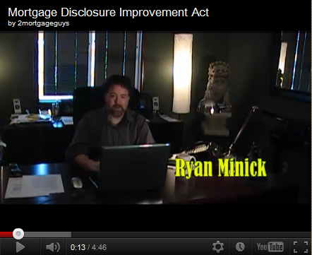 Friday's Video – Mortgage Disclosure Improvement Act