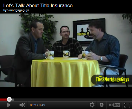 Friday's Video – Let's Talk About Title Insurance