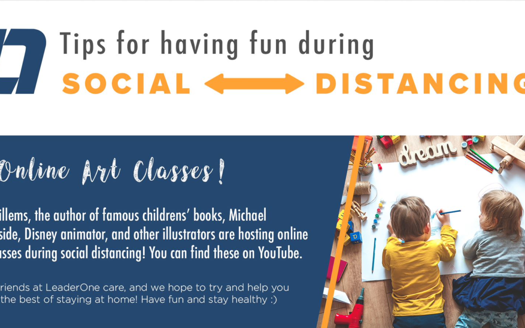 Social Distancing Fun – Online Art Classes!